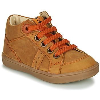 Sapatos Rapaz Sapatilhas de cano-alto GBB ANGELITO Conhaque