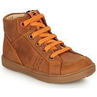 Sapatos Rapaz Sapatilhas de cano-alto GBB ANGELITO Conhaque / Laranja