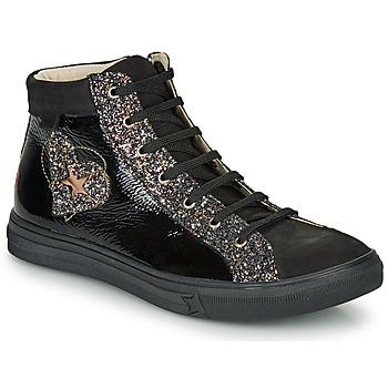 Sapatos Rapariga Sapatilhas de cano-alto GBB MARTA Preto