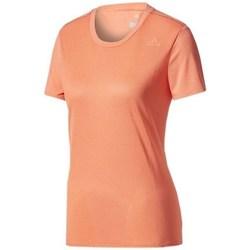 Textil Mulher T-Shirt mangas curtas adidas Originals SN SS Tee W Cor de laranja