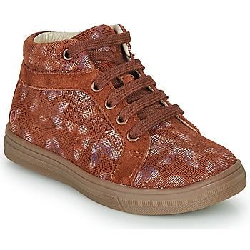 Sapatos Rapariga Sapatilhas de cano-alto GBB OMBLINE Tijolo