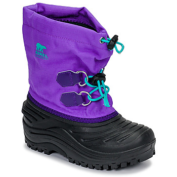 Sapatos Criança Botas de neve Sorel CHILDRENS SUPER TROOPER Preto / Violeta