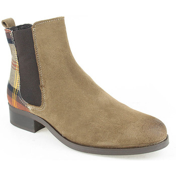 Sapatos Mulher Botas baixas Walkwell L Ankle boots CASUAL Taupe