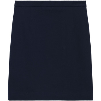 Textil Mulher Saias Gant Saia Jersey Pique Pencil Azul