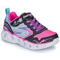 Sapatos Rapariga Sapatilhas Skechers HEART LIGHTS Preto / Rosa