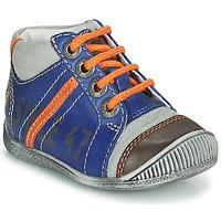 Sapatos Rapaz Botas baixas GBB ISIS Azul / Laranja