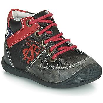 Sapatos Rapaz Botas baixas Catimini COMATULE Preto / Vermelho