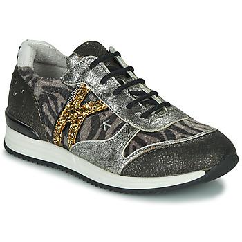 Sapatos Rapariga Sapatilhas Ikks WHITNEY Cinza / Dourado