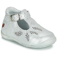 Sapatos Rapariga Sandálias GBB MARIE Branco / Prata