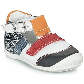 Sapatos Rapaz Sandálias GBB MARTIN Branco / Marinho