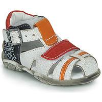 Sapatos Rapaz Sandálias GBB MELVIL Branco / Vermelho / Laranja