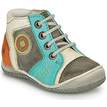 Sapatos Rapaz Botas baixas GBB MONTGOMERY Cinza / Azul