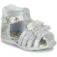 Sapatos Rapariga Sandálias Catimini CYGNE Prata