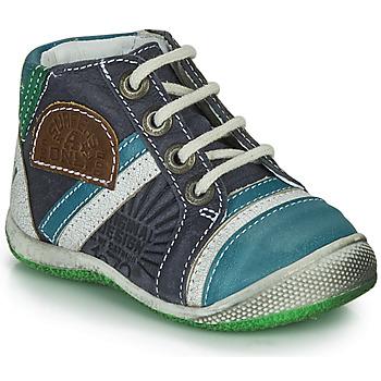 Sapatos Rapaz Botas baixas Catimini CIGOGNE Azul / Verde
