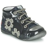 Sapatos Rapariga Sapatilhas de cano-alto GBB NEIGE Marinho / Prata