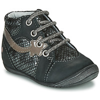 Sapatos Rapariga Botas baixas GBB NOEMIE Preto / Prata