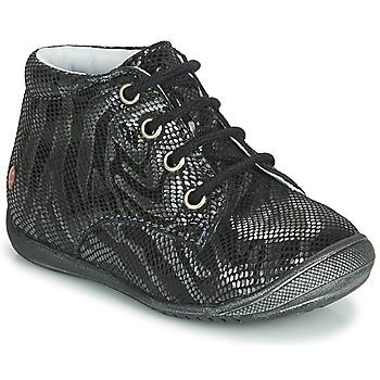 Sapatos Rapariga Botas baixas GBB NAOMI Preto / Prata
