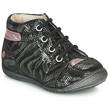 Sapatos Rapariga Botas baixas GBB NICOLE Preto / Prata