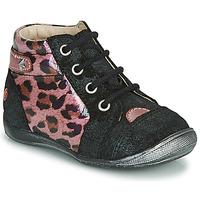 Sapatos Rapariga Botas baixas GBB NICOLE Preto / Rosa
