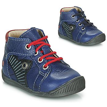 Sapatos Rapaz Botas baixas GBB NATALE Azul / Vermelho