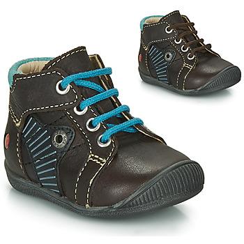 Sapatos Rapaz Botas baixas GBB NATALE Castanho / Azul