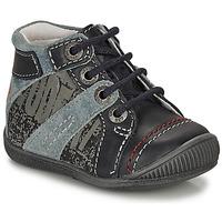 Sapatos Rapaz Botas baixas GBB NOLAN Cinza / Azul