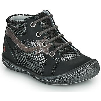 Sapatos Rapariga Botas baixas GBB NORA Preto / Prata