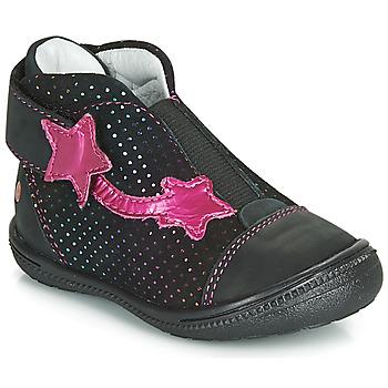 Sapatos Rapariga Botas baixas GBB NOLWENN Preto / Rosa