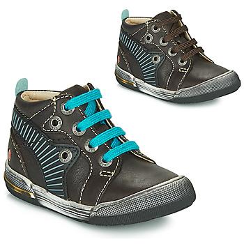 Sapatos Rapaz Sapatilhas de cano-alto GBB NOAH Castanho / Azul