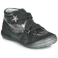 Sapatos Rapariga Botas baixas GBB NINA Preto / Prata