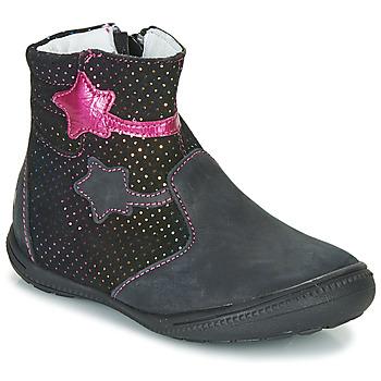 Sapatos Rapariga Botas baixas GBB NADIA Preto / Rosa