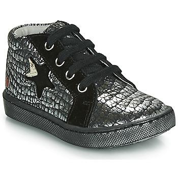Sapatos Rapariga Sapatilhas de cano-alto GBB LETO Preto / Prateado