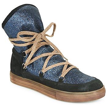 Sapatos Rapariga Botas Achile ANGELA Azul / Preto