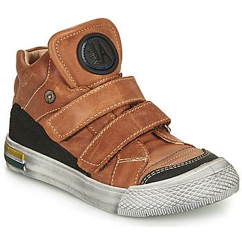 Sapatos Rapaz Sapatilhas de cano-alto Achile HUGO Conhaque