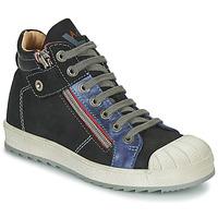 Sapatos Rapaz Sapatilhas de cano-alto Achile DIEGO Preto / Azul