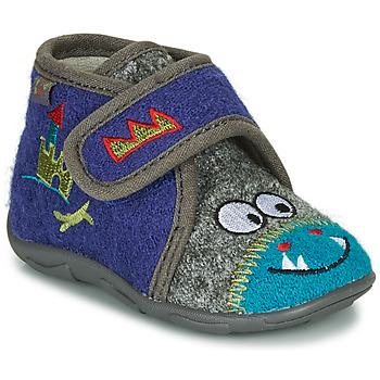 Sapatos Rapaz Chinelos GBB NASTRIANO Azul / Cinza