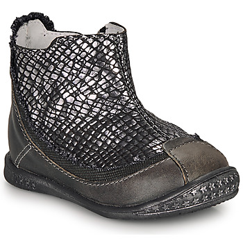 Sapatos Rapariga Botas baixas Ikks SCARLET Preto / Prata