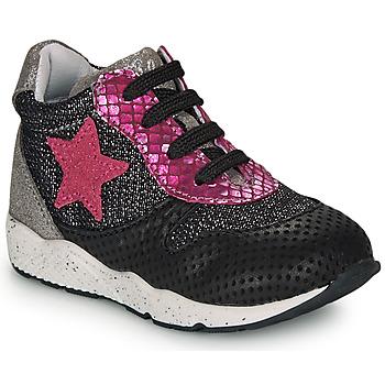 Sapatos Rapariga Sapatilhas Ikks KAREN Preto / Rosa