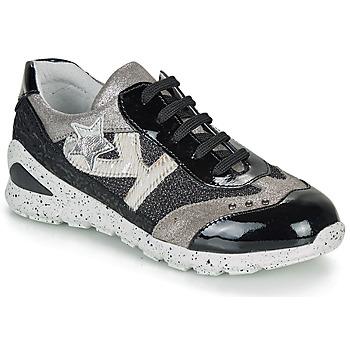 Sapatos Rapariga Sapatilhas Ikks FIONA Preto / Prata