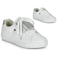 Sapatos Rapariga Sapatilhas Ikks MOLLY Branco / Prata