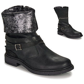 Sapatos Rapariga Botas Ikks FLORA Preto / Prata