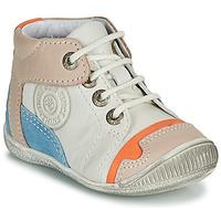 Sapatos Rapaz Botas baixas GBB PAOLO Branco / Bege / Azul