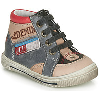 Sapatos Rapaz Sapatilhas de cano-alto GBB PARIS Cinza / Bege