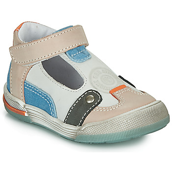 Sapatos Rapaz Sandálias GBB PERCEVAL Branco / Bege / Azul