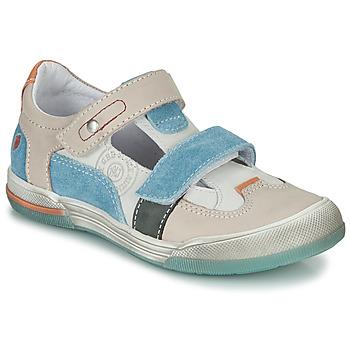 Sapatos Rapaz Sandálias GBB PRINCE Cru / Bege / Azul