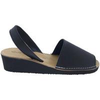 Sapatos Sandálias Huran SANDALIAS MENORQUINAS CUÑA NEGRO Noir