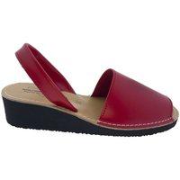 Sapatos Sandálias Huran SANDALIAS MENORQUINAS CUÑA ROJO rouge