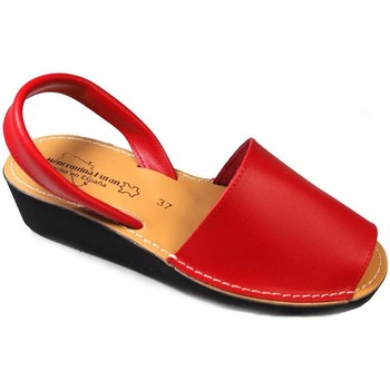 Sapatos Sandálias Huran Sandalias Menorquinas Cuña Rojo Vermelho