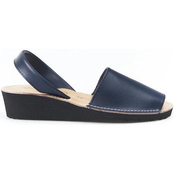 Sapatos Sandálias Huran SANDALIAS MENORQUINAS CUÑA MARINO bleu