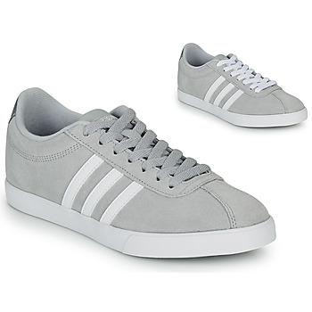 Sapatos Mulher Sapatilhas adidas Originals COURTSET GRIS Cinza